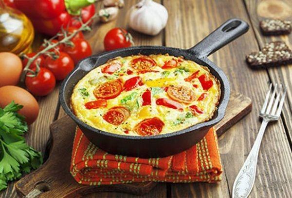 Ομελέτα φούρνου νηστίσιμη με λαχανικά