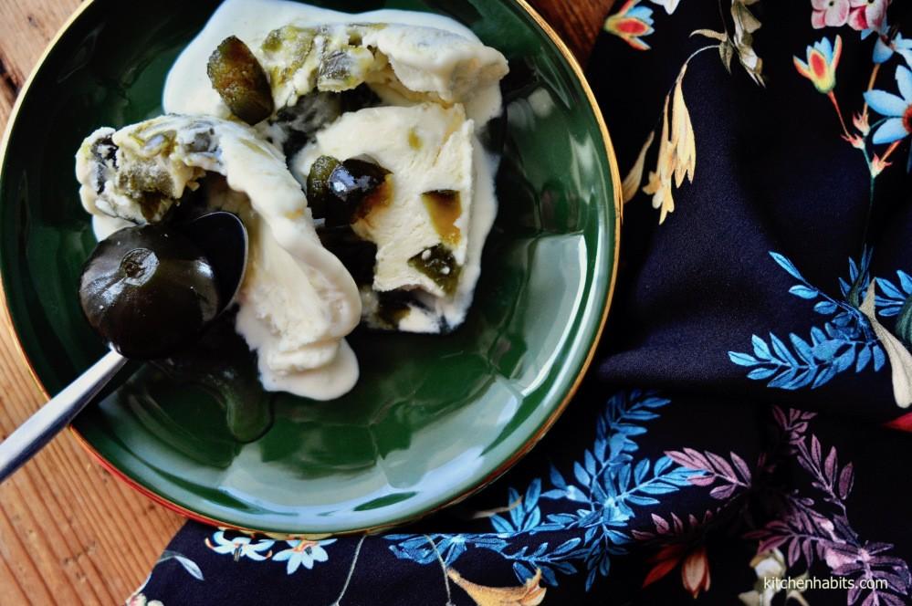 Παγωτό με γλυκό του κουταλιού σύκο (γίνεται και νηστίσιμο)