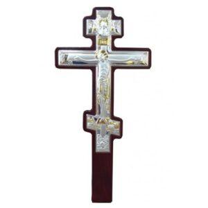 Επάργυρος Σταυρός για τοίχο (με λαβή)